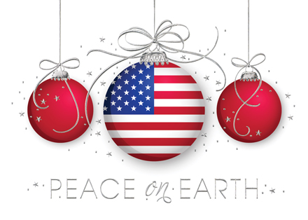 American Flag Cards - American Flag Christmas Cards Patriotic